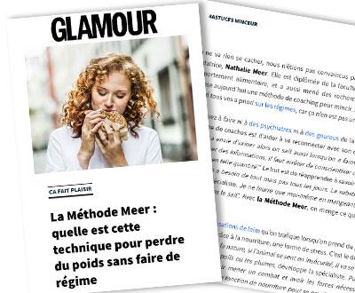 Consulter l'article sur la Méthode Meer dans le magazine GLAMOUR